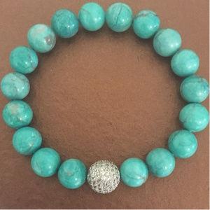 Jewelry - Turquoise Beaded Fashion Stretch Bracelet